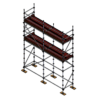 Renderers Kit - Aluminium Kwikstage Modular Scaffold System (1.3m (W) x 5.0m (L) x 5.0m (H)
