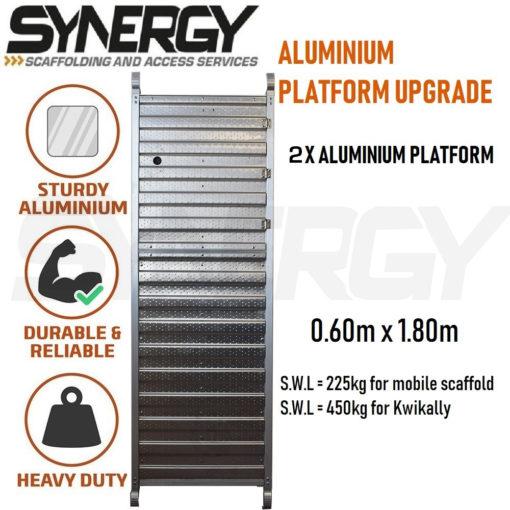 Foldable Aluminium Mobile Narrow Scaffold 3.6m (Platform Height)