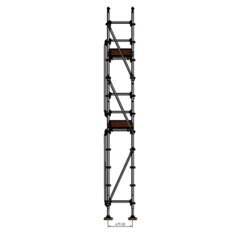 Painters Kit - Aluminium Kwikstage Modular Scaffold System (0.7m (W) x 10.0m (L) x 4.0m(H)