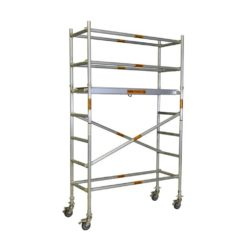 Aluminium Mobile Narrow Scaffold 2.2m - 2.6m (Platform Height)