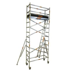 Aluminium Mobile Narrow Scaffold 3.4m - 3.8m (Platform Height)