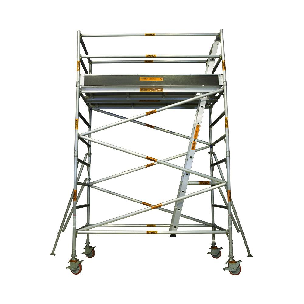 Aluminium Mobile Narrow Scaffold 3.4m - 3.8m (Platform Height)