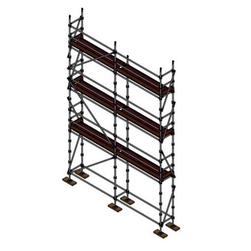 Tradies Kit - Aluminium Kwikstage Modular Scaffold System (0.7m (W) x 5.0m (L) x 6.0m (H)