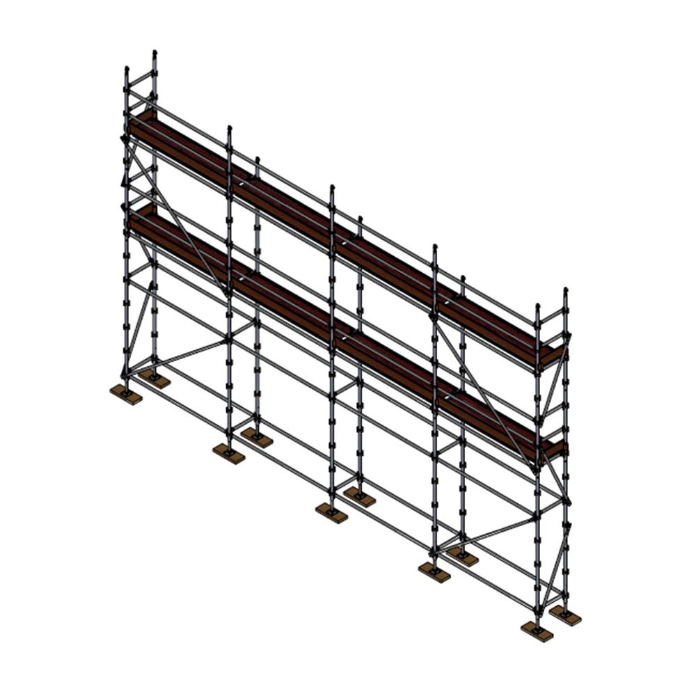 Builders Kit - Aluminium Kwikstage Modular Scaffold System (0.7m (W) x 10.0m (L) x 5.0m (H)