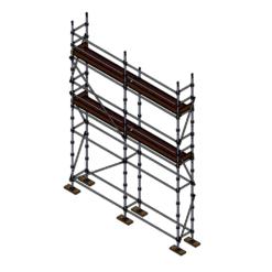 Renders Kit - Aluminium Kwikstage Modular Scaffold System (0.7m (W) x 5.0m (L) x 5.0m(H)