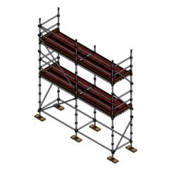 Kwikstart Kit - Aluminium Kwikstage Modular Scaffold System (1.3m (W) x 5.0m (L) 4.0m (H)