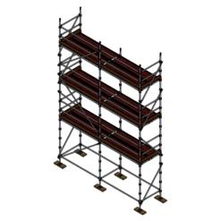 Tradies Kit - Aluminium Kwikstage Modular Scaffold System (1.3m (W) x 5.0m (L) x 6.0m (H)