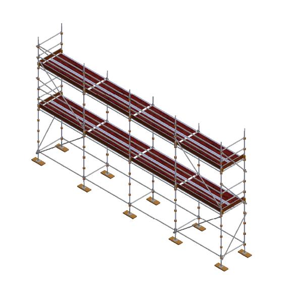 Painters Kit - Aluminium Kwikstage Modular Scaffold System (1.3m (W) x 10.0m (L) x 4.0m (H)