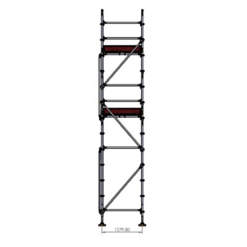 Builders Kit - Aluminium Kwikstage Modular Scaffold System (1.3m (W) x 10.0m (L) x 5.0m (H)