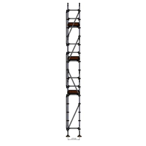 Roofers Kit - Aluminium Kwikstage Modular Scaffold System (0.7m (W) x 10.0m (L) 6.0m (H)
