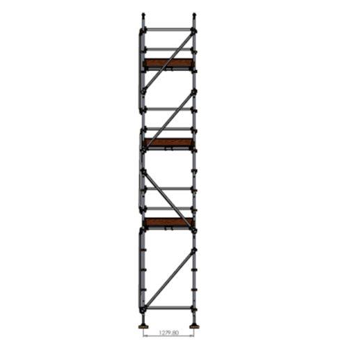 Roofers Kit - Aluminium Kwikstage Modular Scaffold System (1.3m (W) x 10.0m (L) x 6.0m (H)
