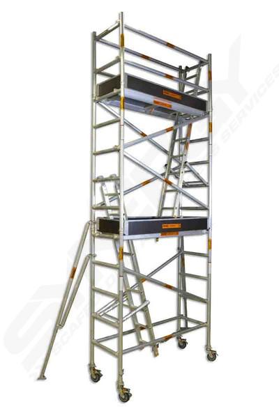 4 Aluminum Rolling Scaffold : M single width platform synergy scaffolding access