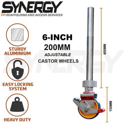 6-Inch Adjustable Castor Wheels