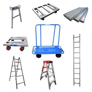 LADDERS / TRESTLES/ PLANKS & TROLLEYS