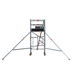Aluminium Foldable Extendable Narrow Scaffold 2.2m (Height) 1.2m - 2.0m (Scaffold Length)