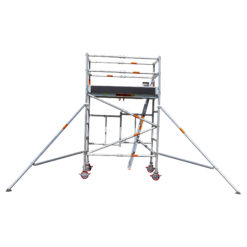 Aluminium Foldable Extendable Wide Scaffold 2.2m (Height) 1.2m - 2.0m (Scaffold Length)