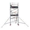 Aluminium Foldable Extendable Wide Scaffold 4.2m (Height) 1.2m - 2.0m (Scaffold Length)