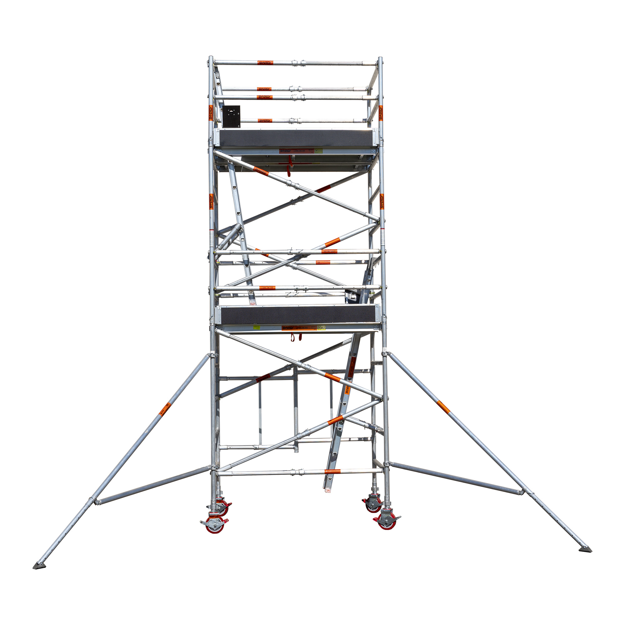 Aluminium Foldable Extendable Wide Scaffold 4.2m (Height) 1.2m - 2.0m (Scaffold Length)