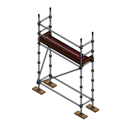 Aluminium Kwikally Modular Scaffold System 0.7m (W) x 2.5m (L) x 2.0m(H)