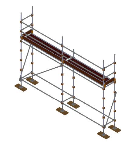 Aluminium Kwikally Modular Scaffold System 5m (Scaffold Length) PARENT