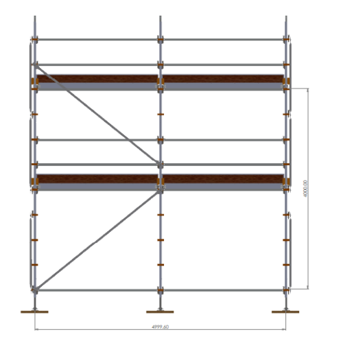 Aluminium Kwikally Modular Scaffold System 5m (Scaffold Length) PARENT