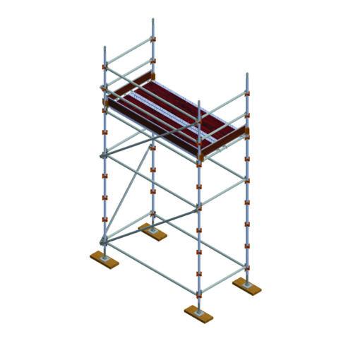 Aluminium Kwikally Modular Scaffold System 2.5m (Scaffold Length) x 3m (Height)