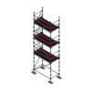 Aluminium Kwikally Modular Scaffold System 5m (Scaffold Length) x 3m (Height)
