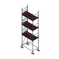 Aluminium Kwikally Modular Scaffold System 2.5m (Scaffold Length) x 6m (Height)