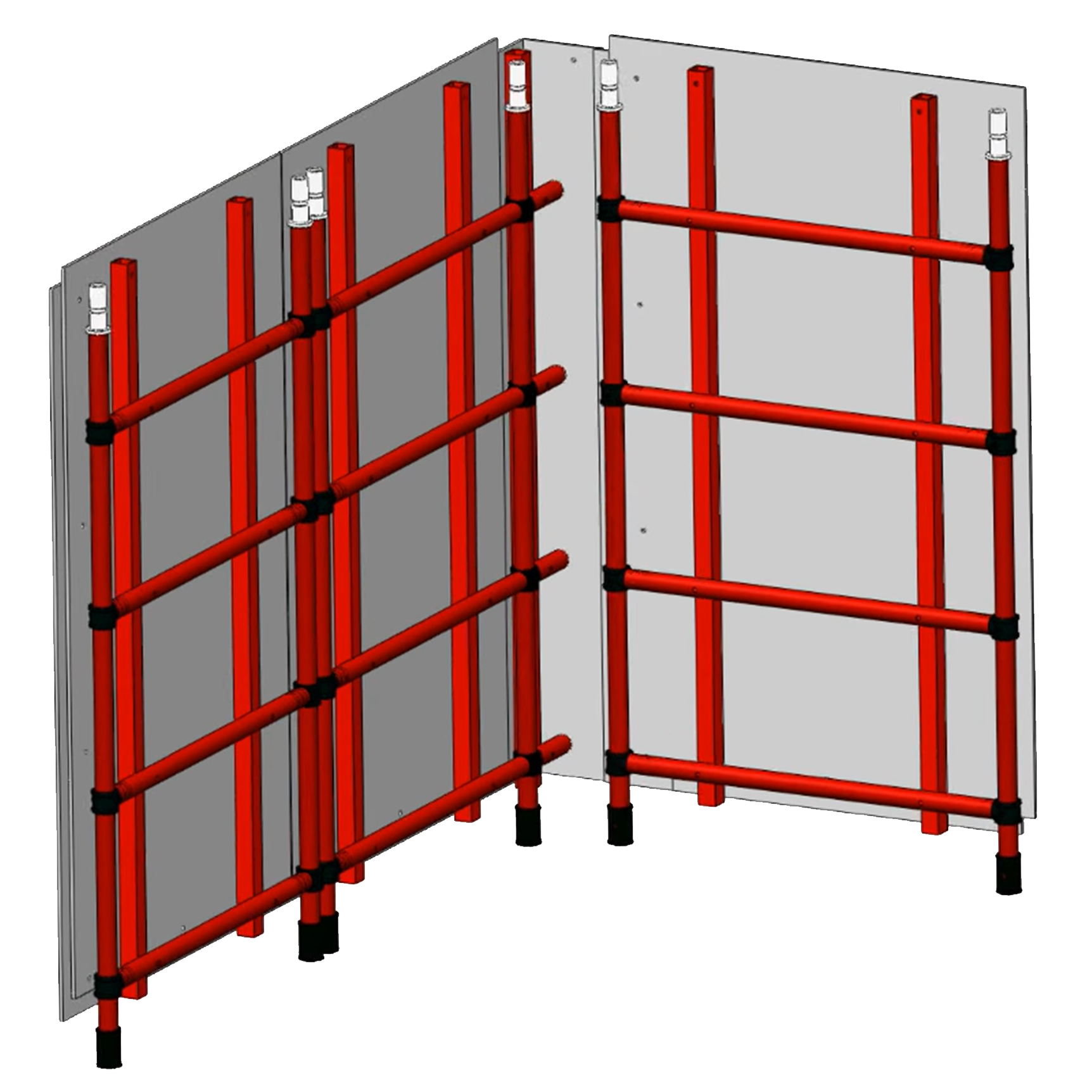 Aluminium Kwikally Modular Scaffold System 15m (Scaffold Length) x 2m (Height)