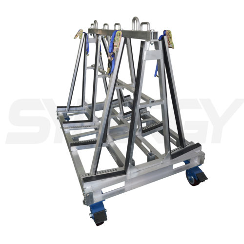 A Frame Trolley With Ratchet Strap Support Assembly