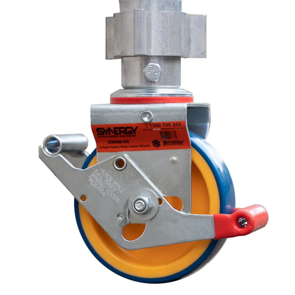 Aluminium Foldable Extendable Narrow Scaffold 4.2m (Height) 1.2m - 2.0m (Scaffold Length)