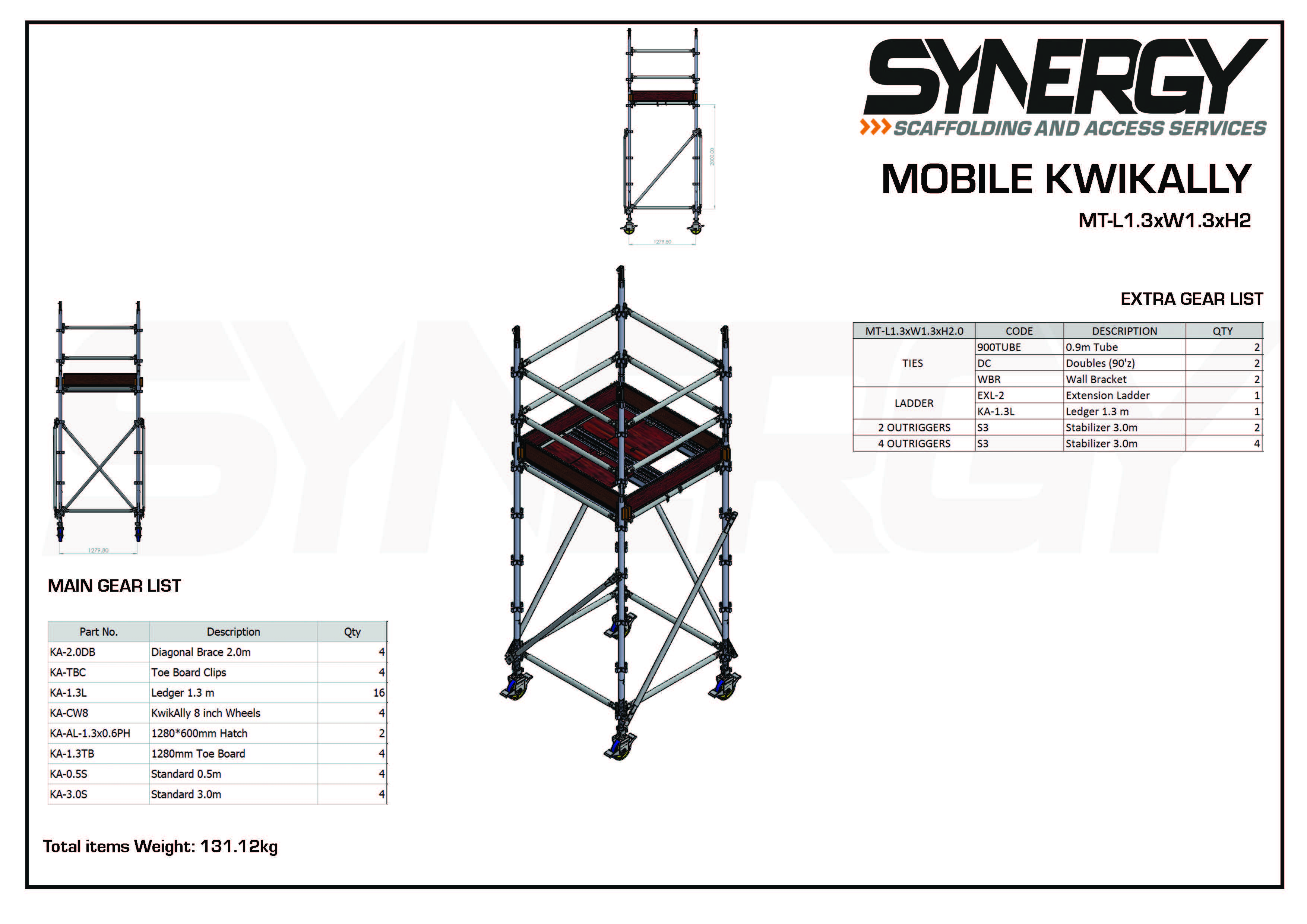 Kwikally Mobile 1.3m x 1.3m x 2m(Height)