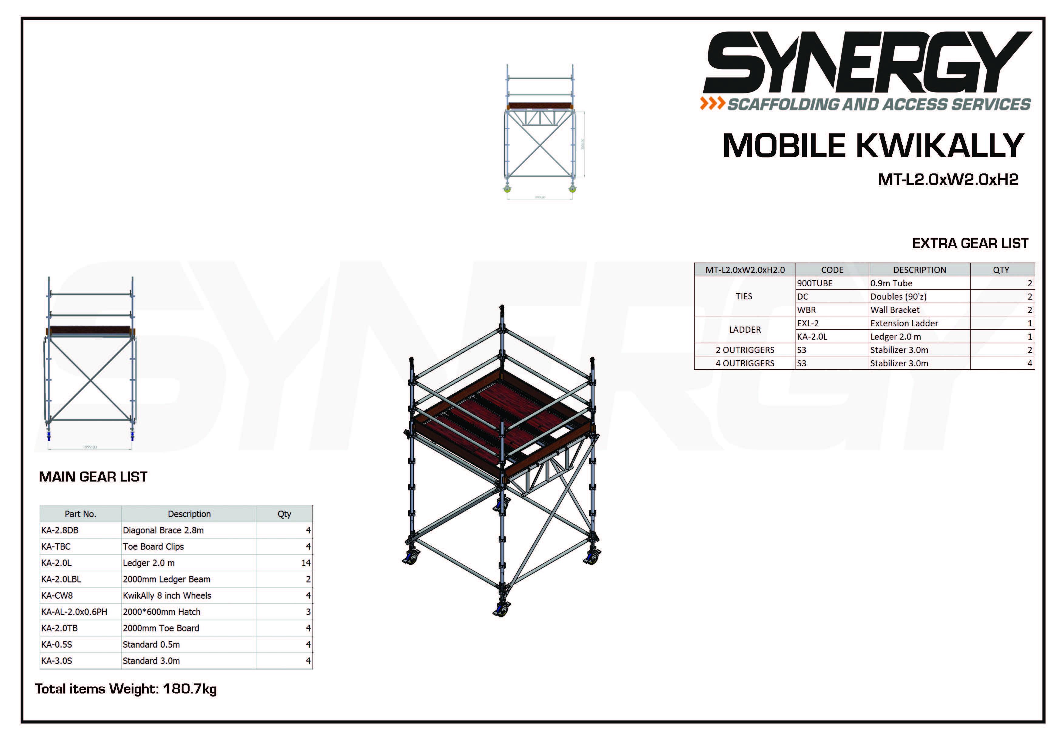 Kwikally Mobile 2.0m x 2.0m x 2m(Height)