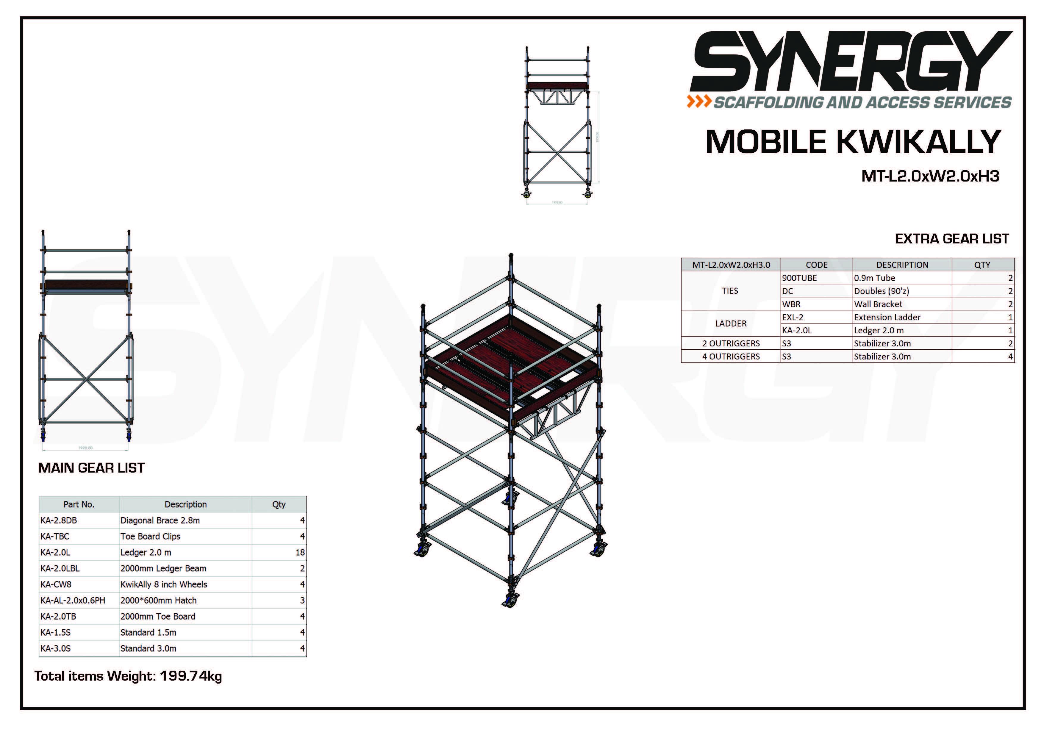 Kwikally Mobile 2.0m x 2.0m x 3m(Height)
