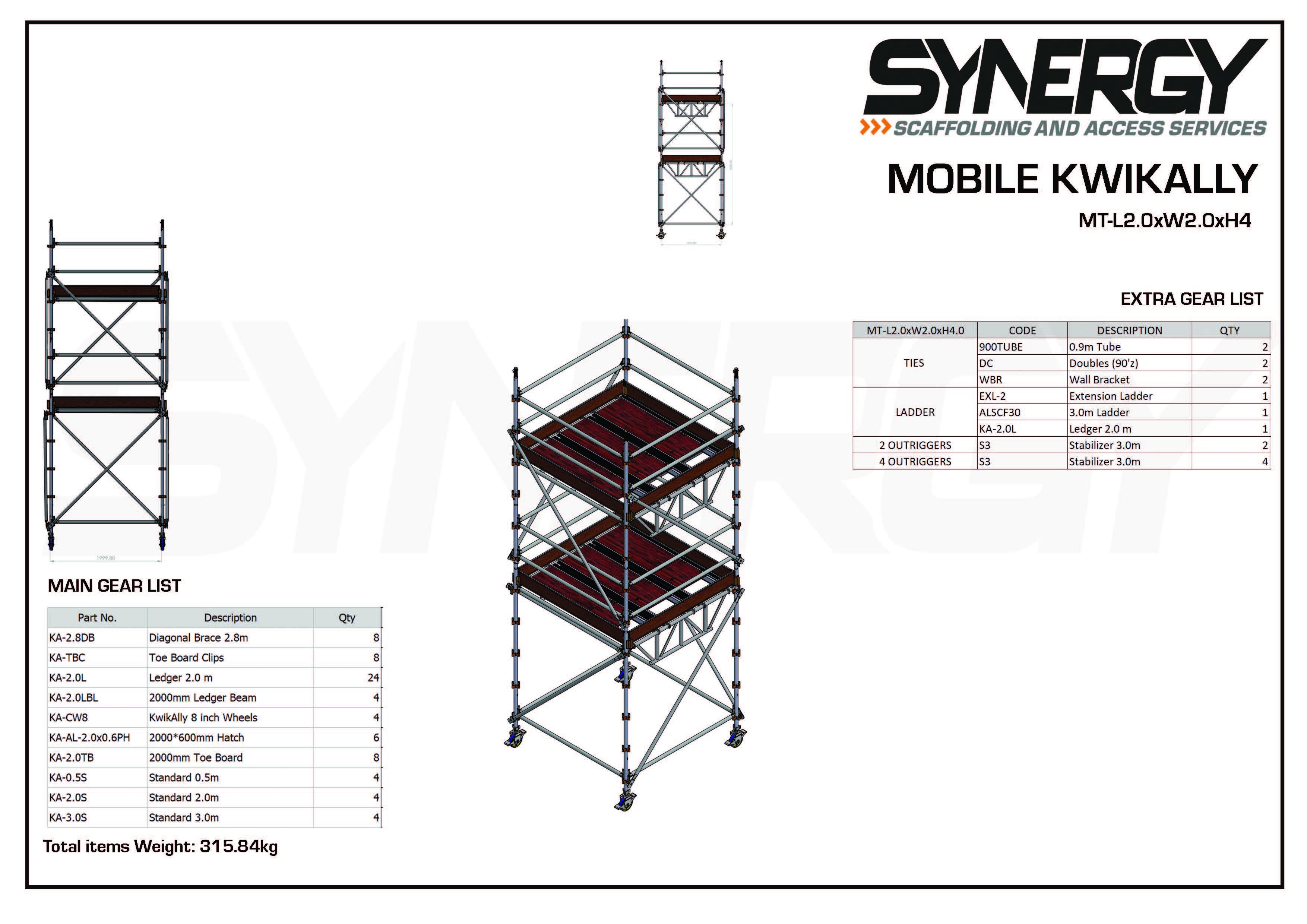 Kwikally Mobile 2.0m x 2.0m x 4m(Height)