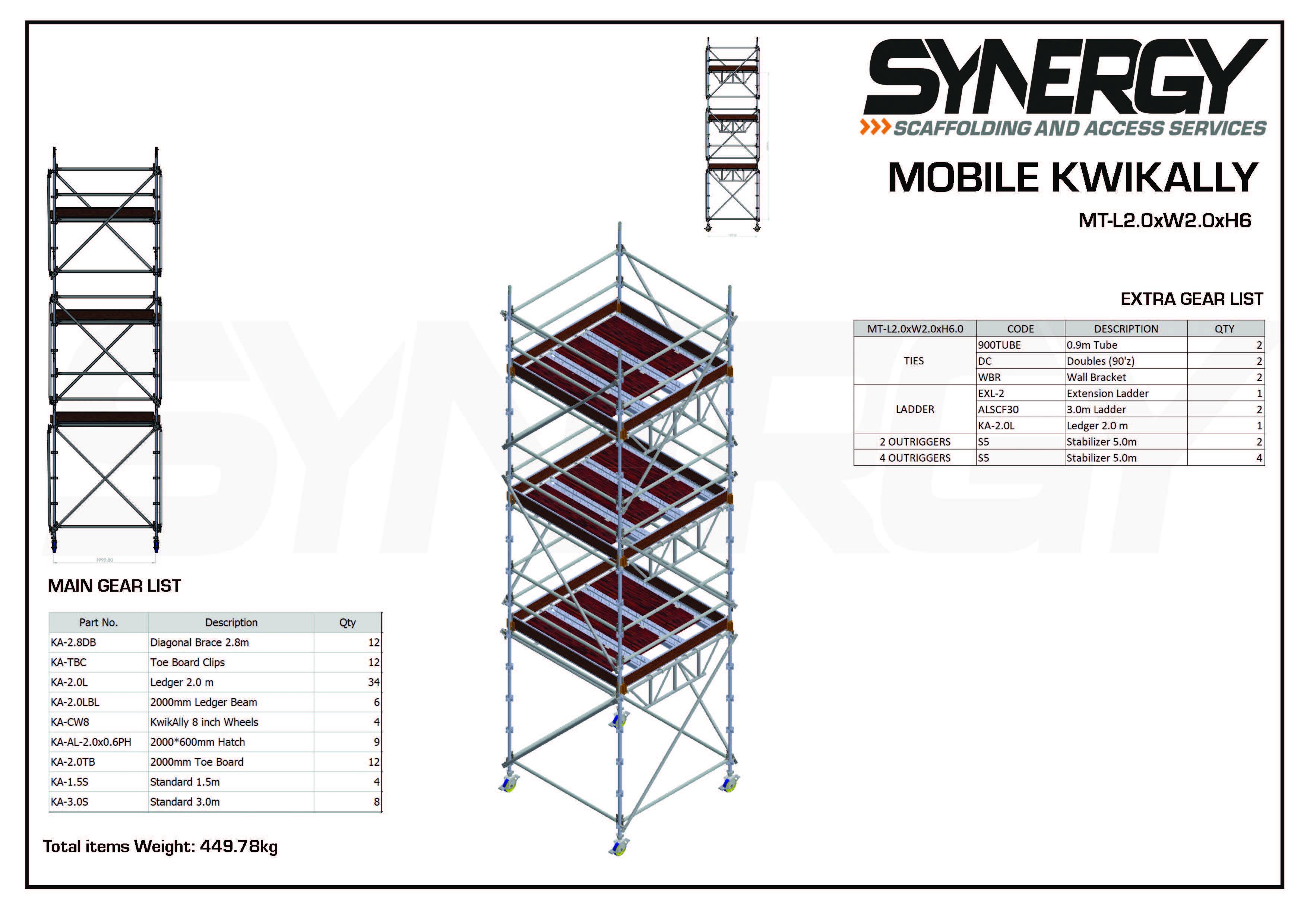 Kwikally Mobile 2.0m x 2.0m x 6m(Height)