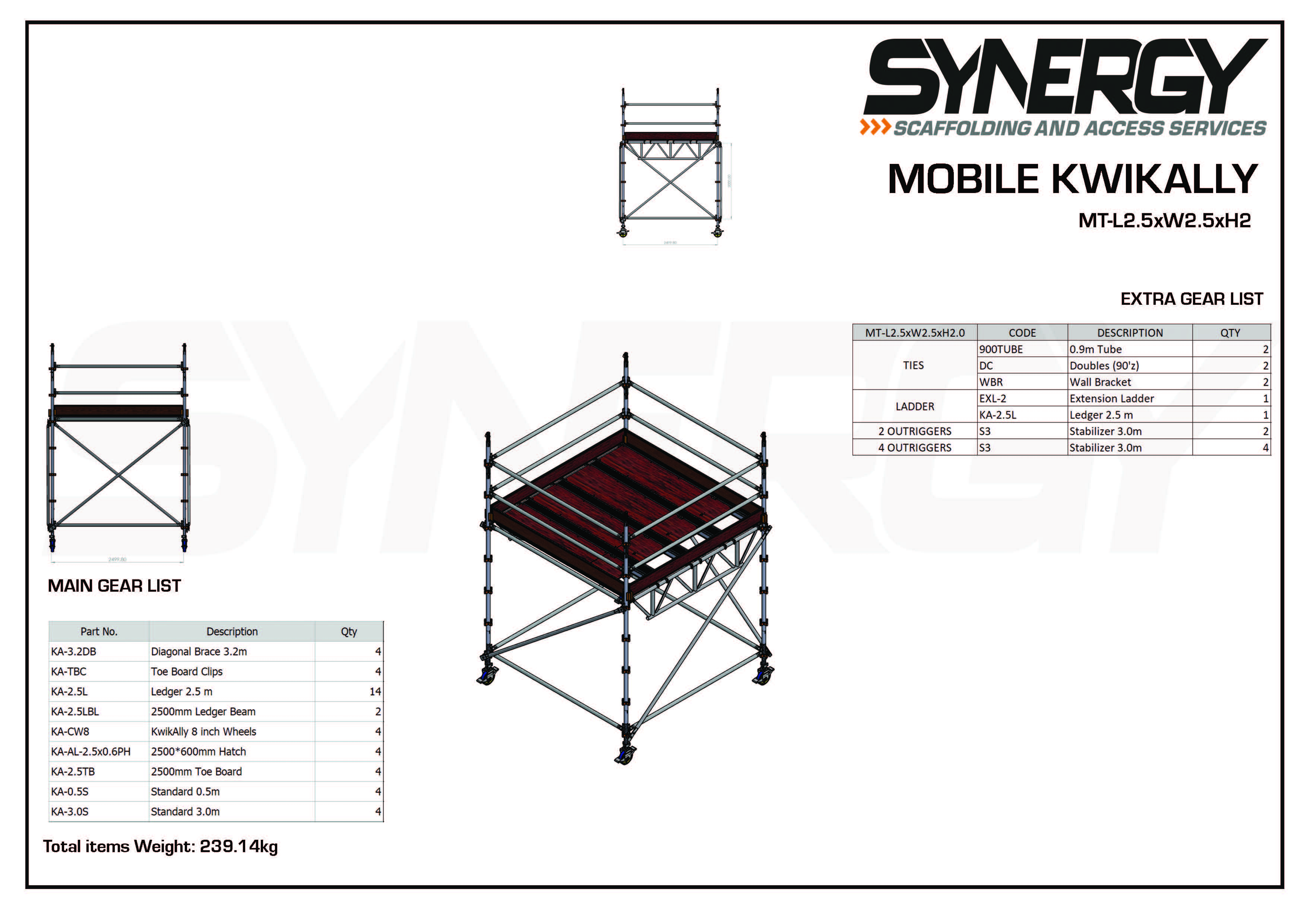 Kwikally Mobile 2.5m x 2.5m x 2m(Height)