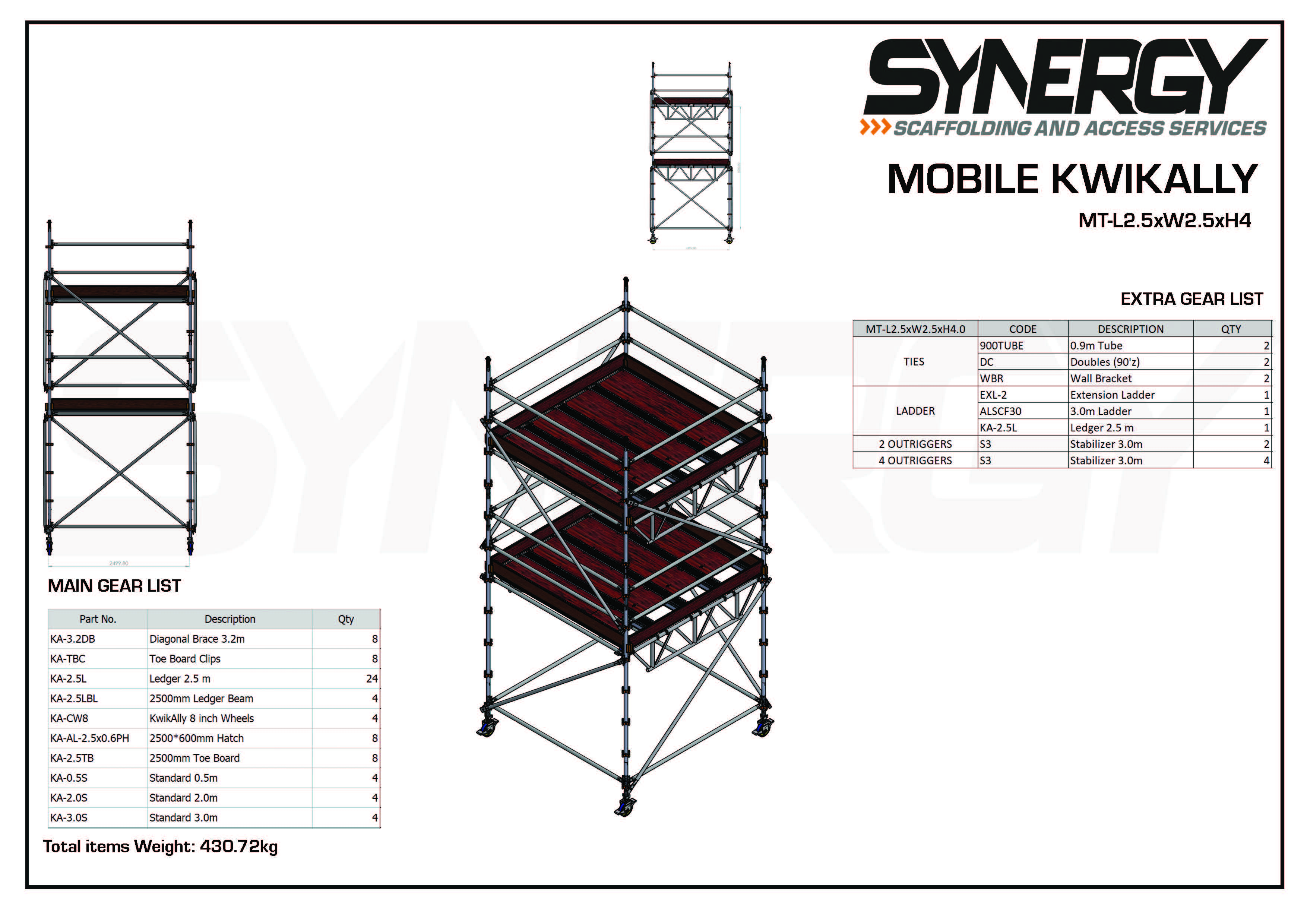 Kwikally Mobile 2.5m x 2.5m x 4m(Height)