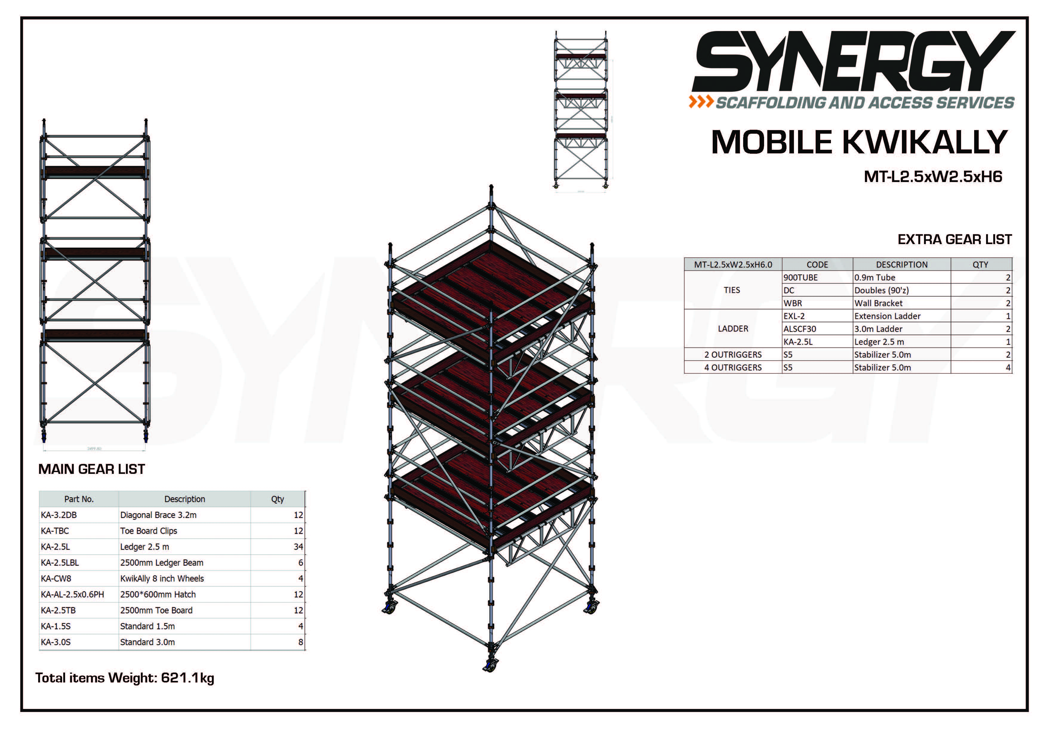 Kwikally Mobile 2.5m x 2.5m x 6m(Height)