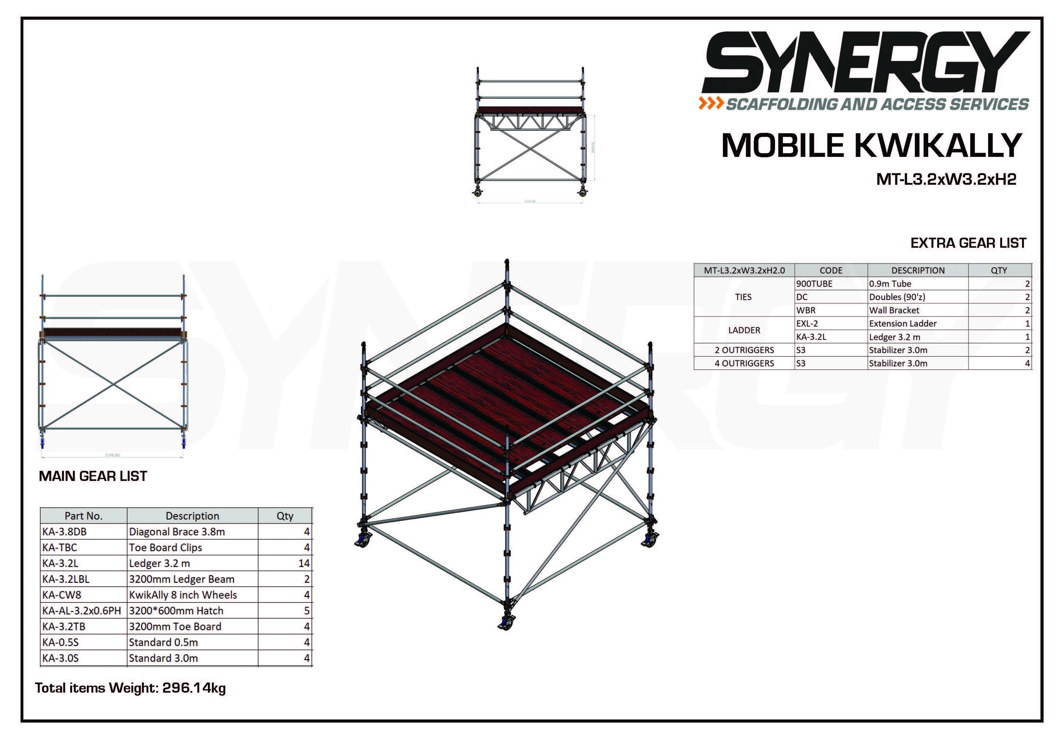 Kwikally Mobile 3.2m x 3.2m x 2m(Height)