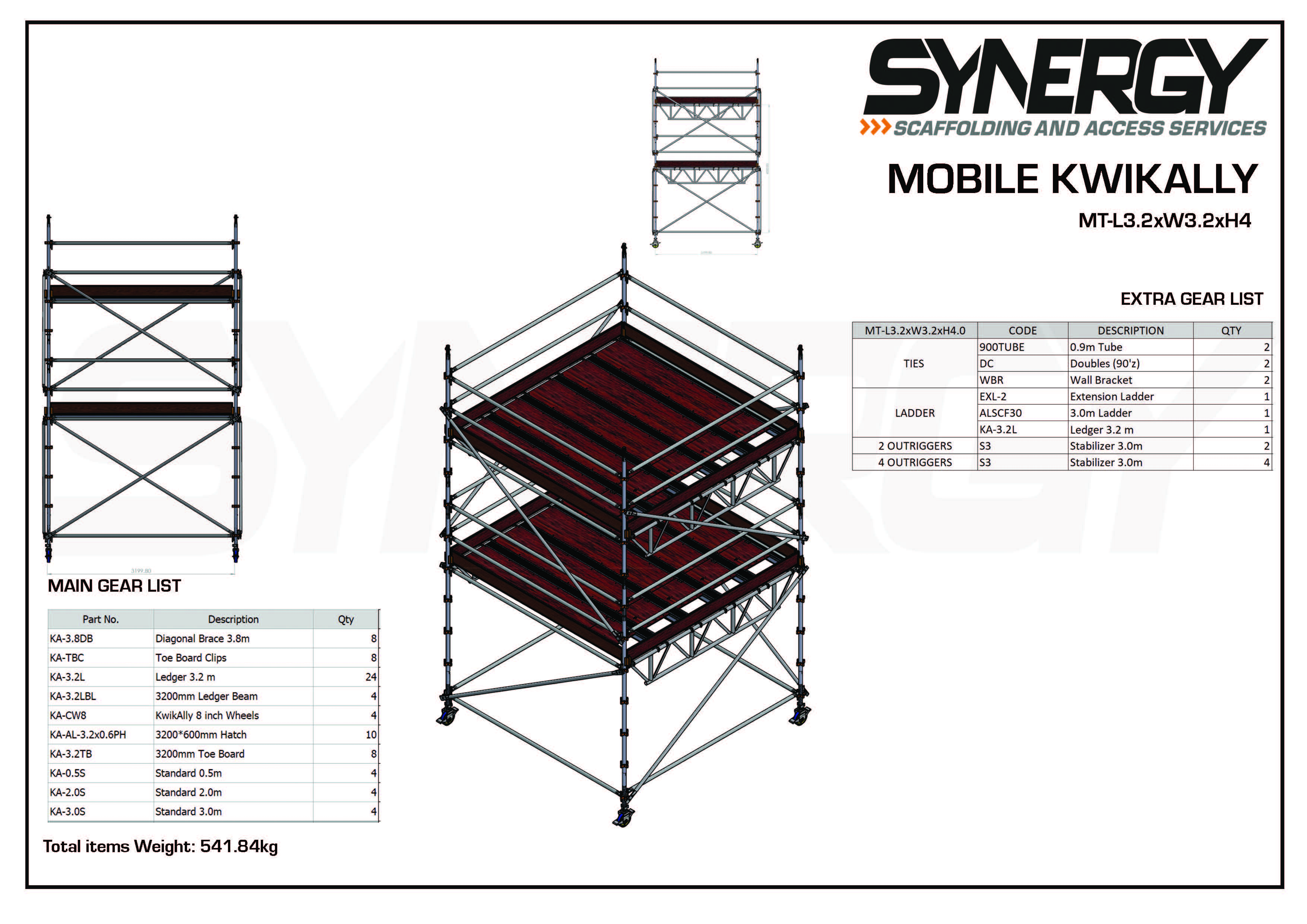 Kwikally Mobile 3.2m x 3.2m x 4m(Height)