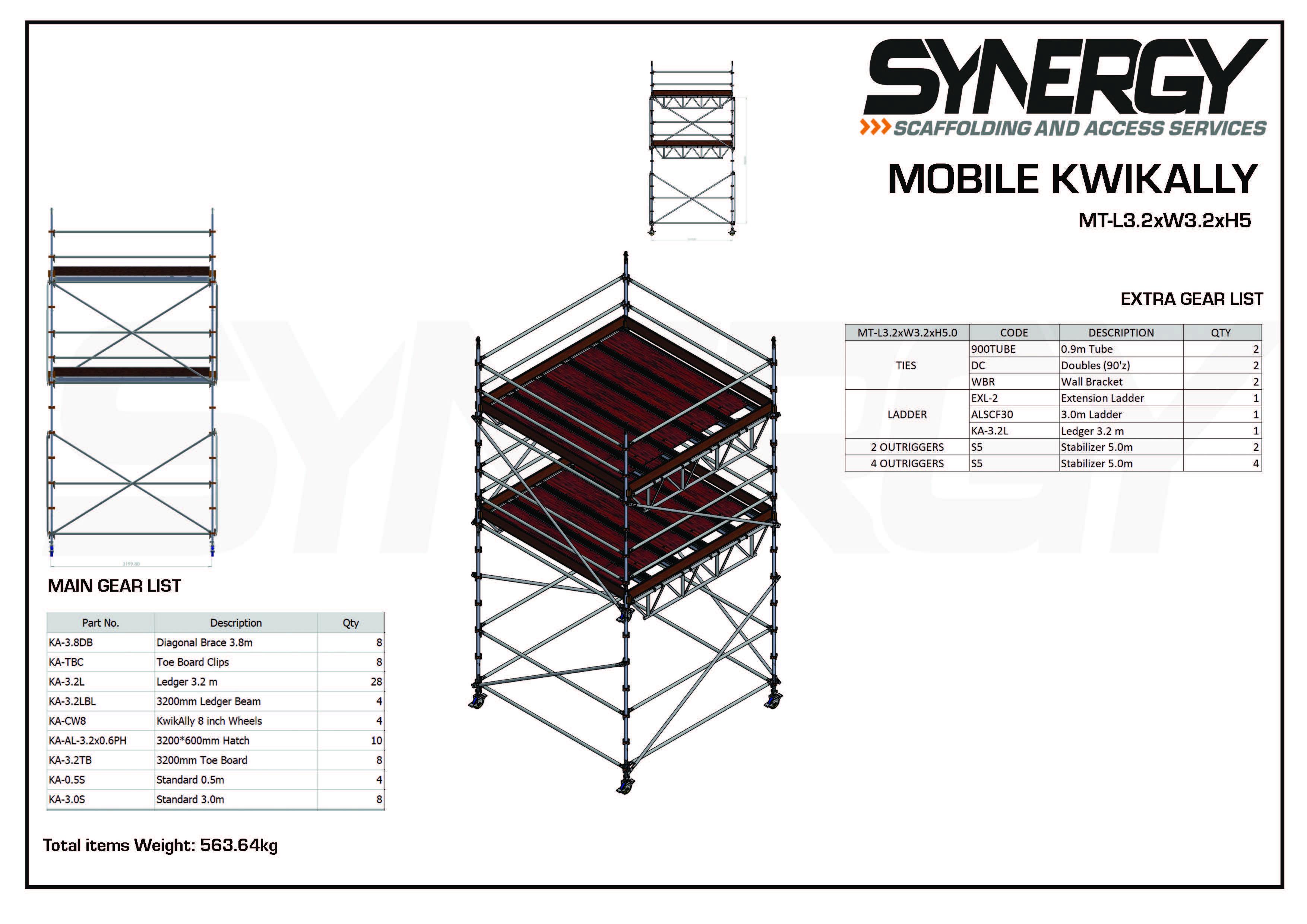 Kwikally Mobile 3.2m x 3.2m x 5m(Height)